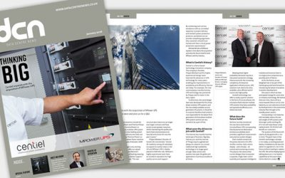 Data Centre News feature article on Centiel