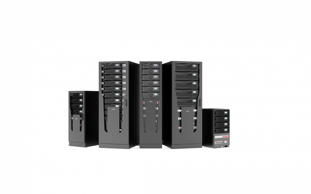 "CumulusPower Swiss-made Three-Phase, 4th Generation Modular UPS system which offers industry leading ""9 nines"" availability and lowest total cost of ownership."