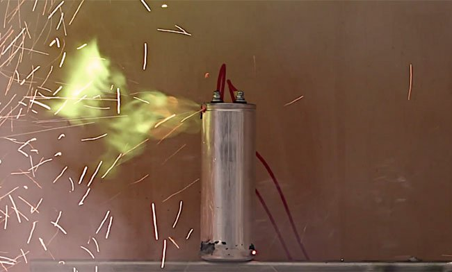 PowerWave UPS Service & Maintenance, Capacitor Replacements, Exploding Capacitor