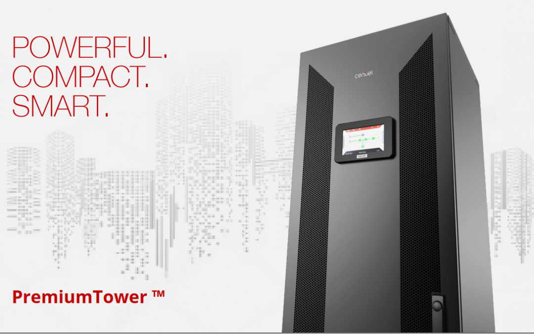 PremiumTower High Efficiency Three-phase Swiss-Made UPS from Centiel Continuous Power Availability Swiss-based Uninterruptible Power Supplies Manufacturer.