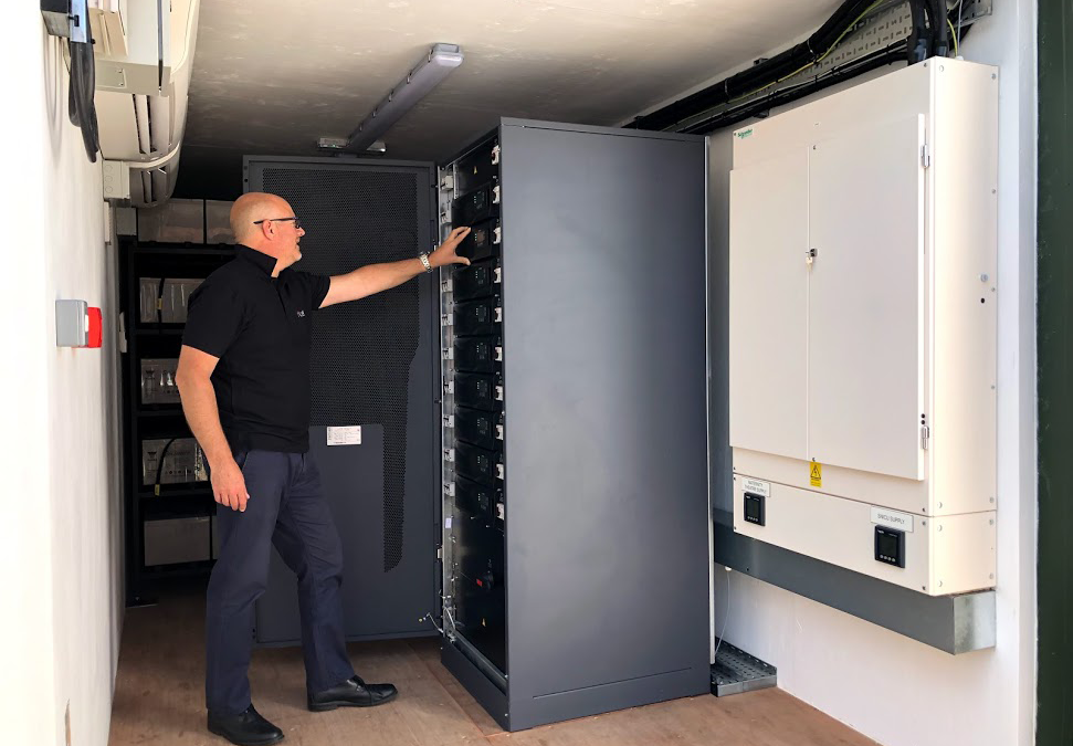 Centiel's Uninterruptible Power Supplies protect patients at Musgrove Hospital. Containerised UPS Systems / mini datacentres