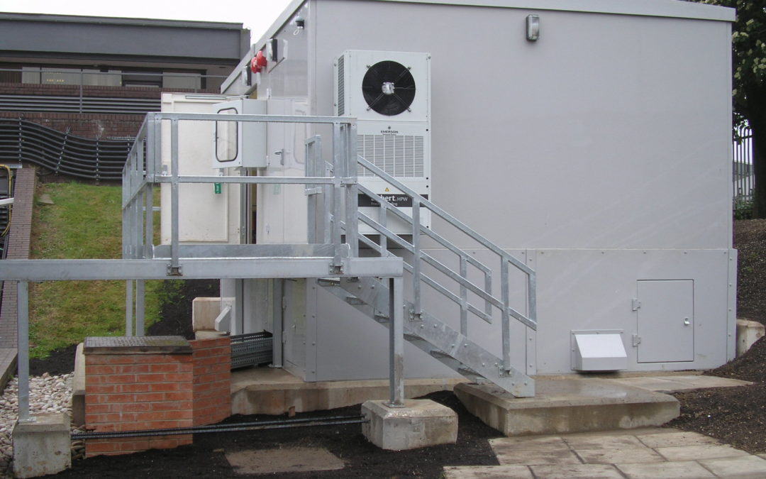 GRP Containerise UPS Swiss Made Modular UPS Modular approach, Hospital UPS container