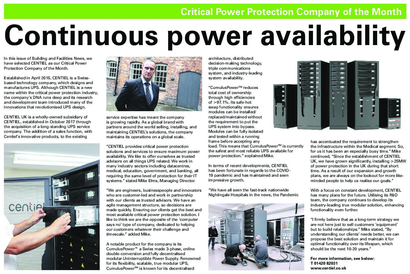 Continuous Power Availability – Critical Power Protection Company of the Month